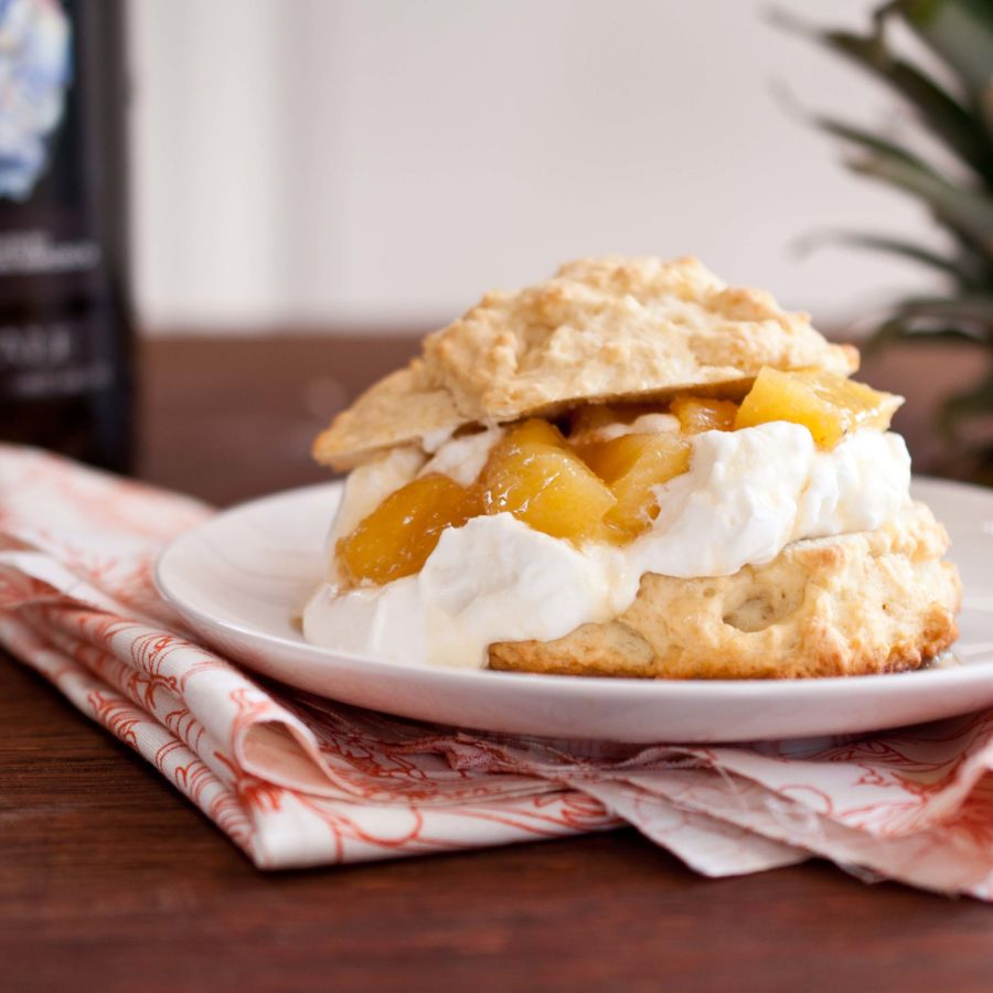 Saison Caramelized Pineapple Beer Shortcakes