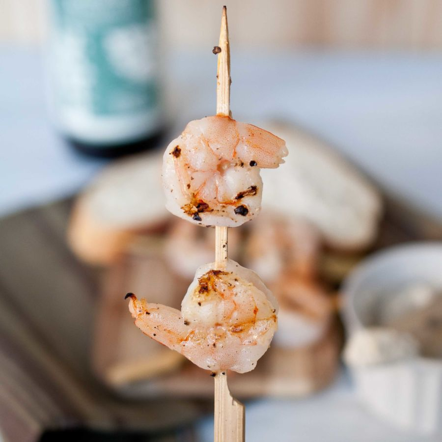 Roasted Garlic Beer Butter Shrimp