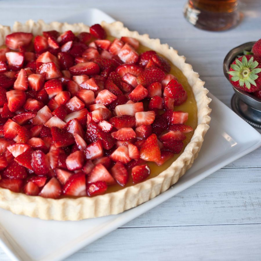 Drunk Strawberry Beer Lemon Tart
