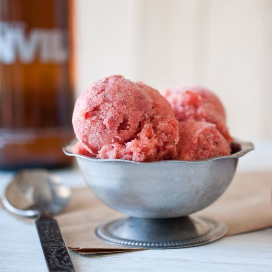 Strawberry Beer Sorbet FG
