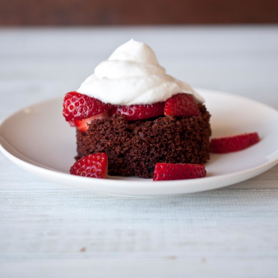 Chocolate Porter Strawberry Shortcakes With Beer Whipped Cream