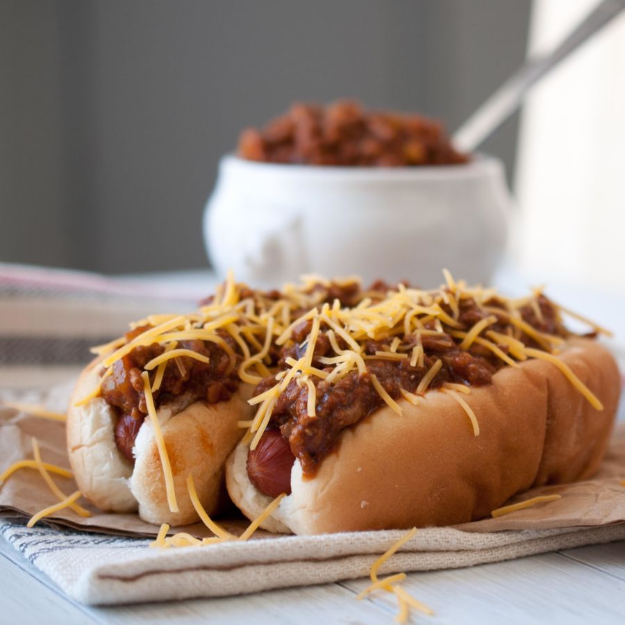 Beer Chili & Cheese Dogs for IPA Day