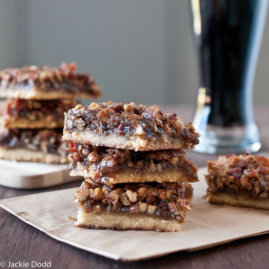 Beer & Bacon Pecan Bars_