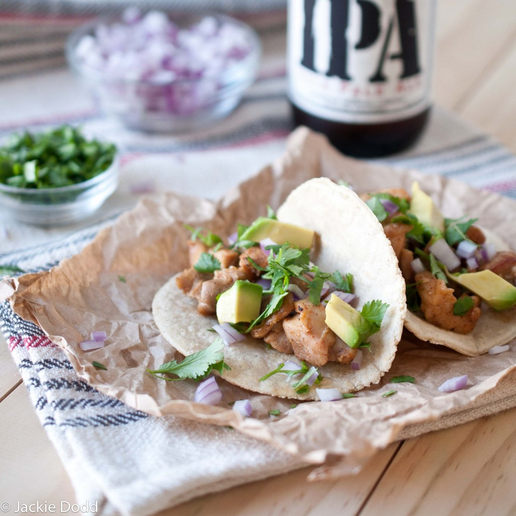 Beer Braised Chicken Tacos With Beer Corn Tortillas