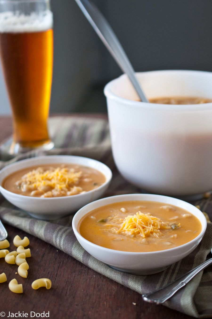 Mac And Beer Cheese Soup