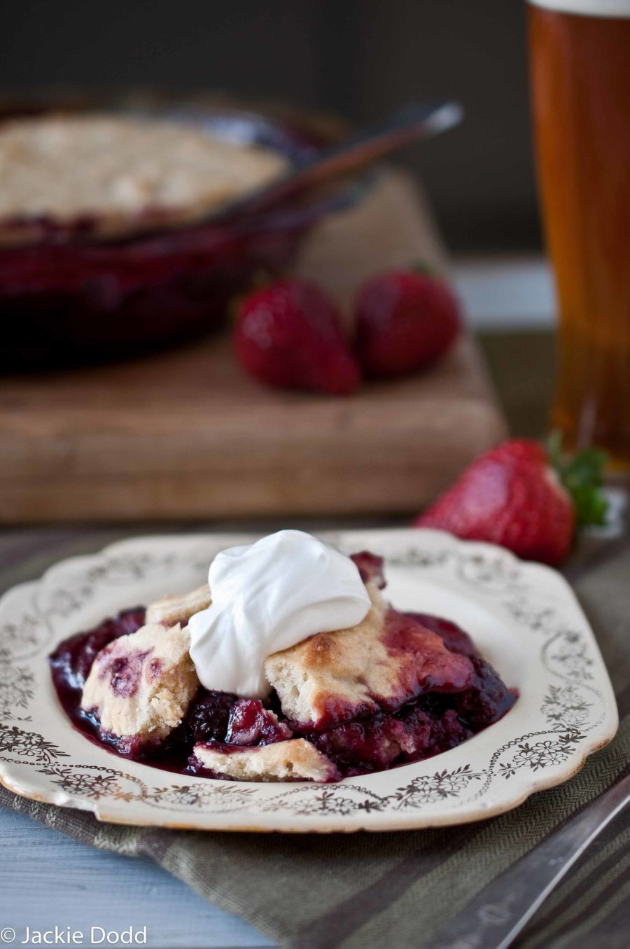 Beer Berry Cobbler