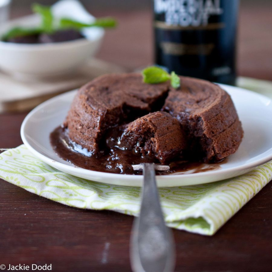 Chocolate Mint Stout Lava Cake
