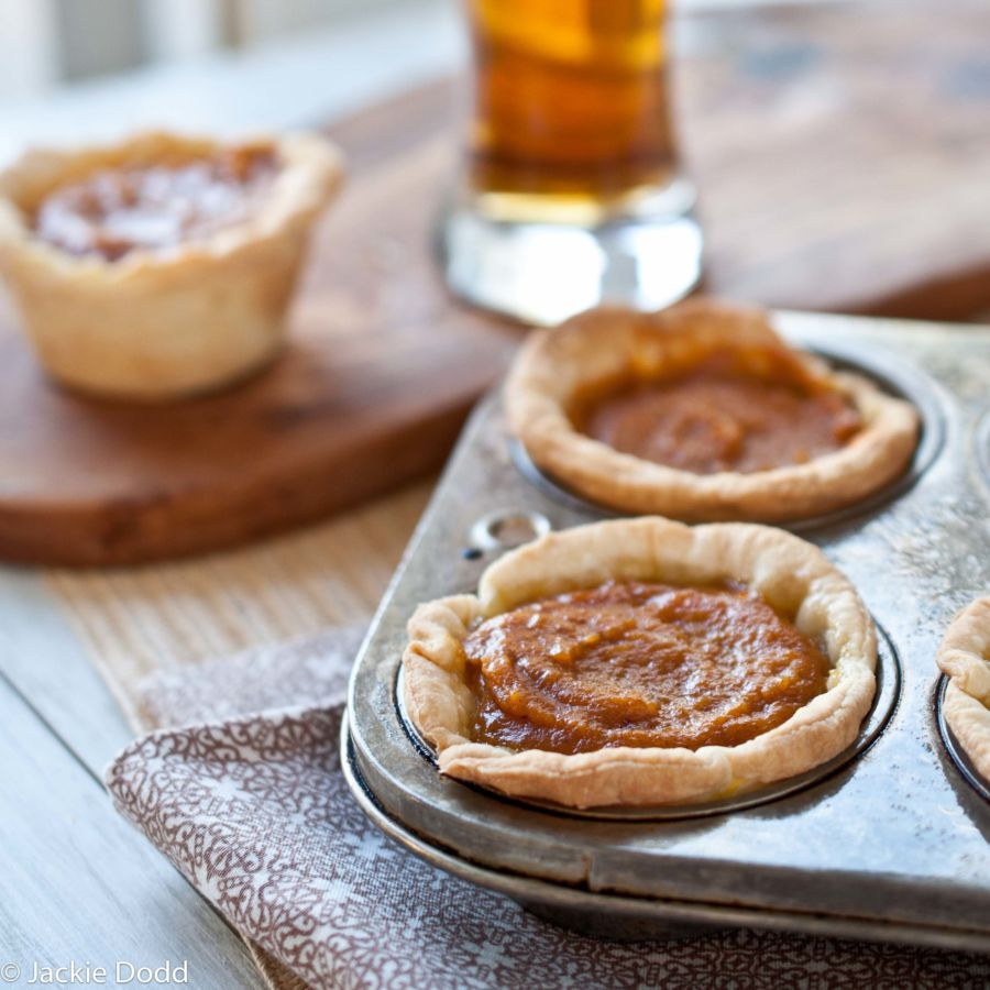 Mini Drunken Coconut Pumpkin Pies