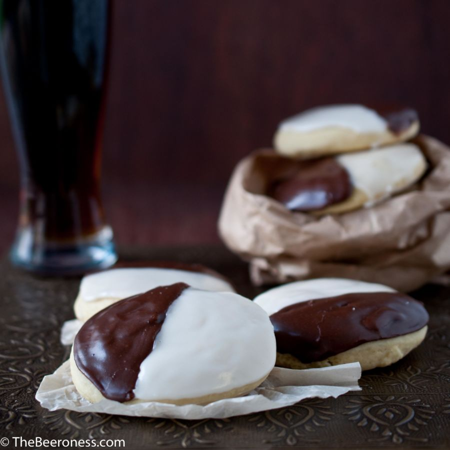 Black and Tan Cookies: New York Deli Cookies Meet Beer Mixology