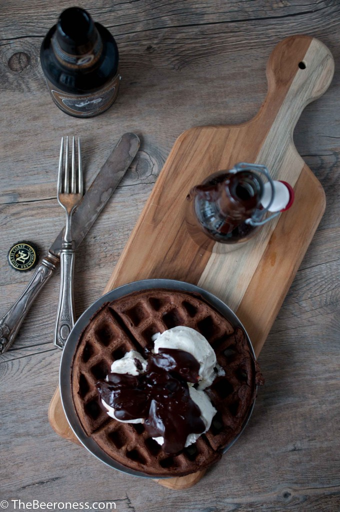 Chocolate Stout Waffle Sundae with Chocolate Stout Fudge Sauce2