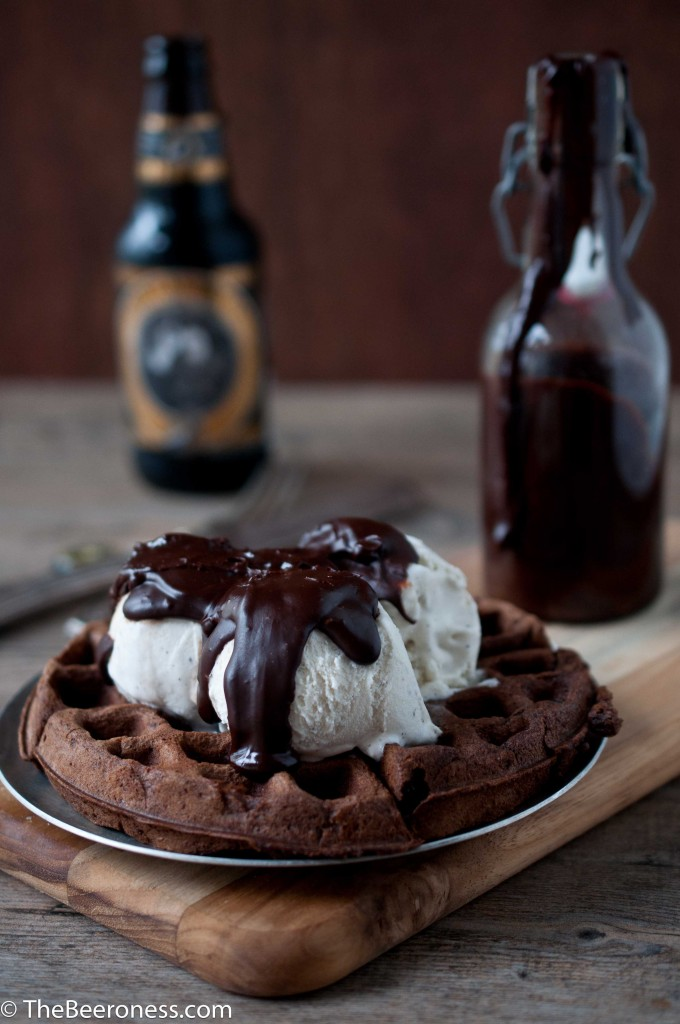 Chocolate Stout Waffle Sundae with Chocolate Stout Fudge Sauce3
