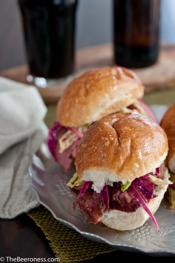 Conred Beef Sliders with Pickled Cabbage Slaw