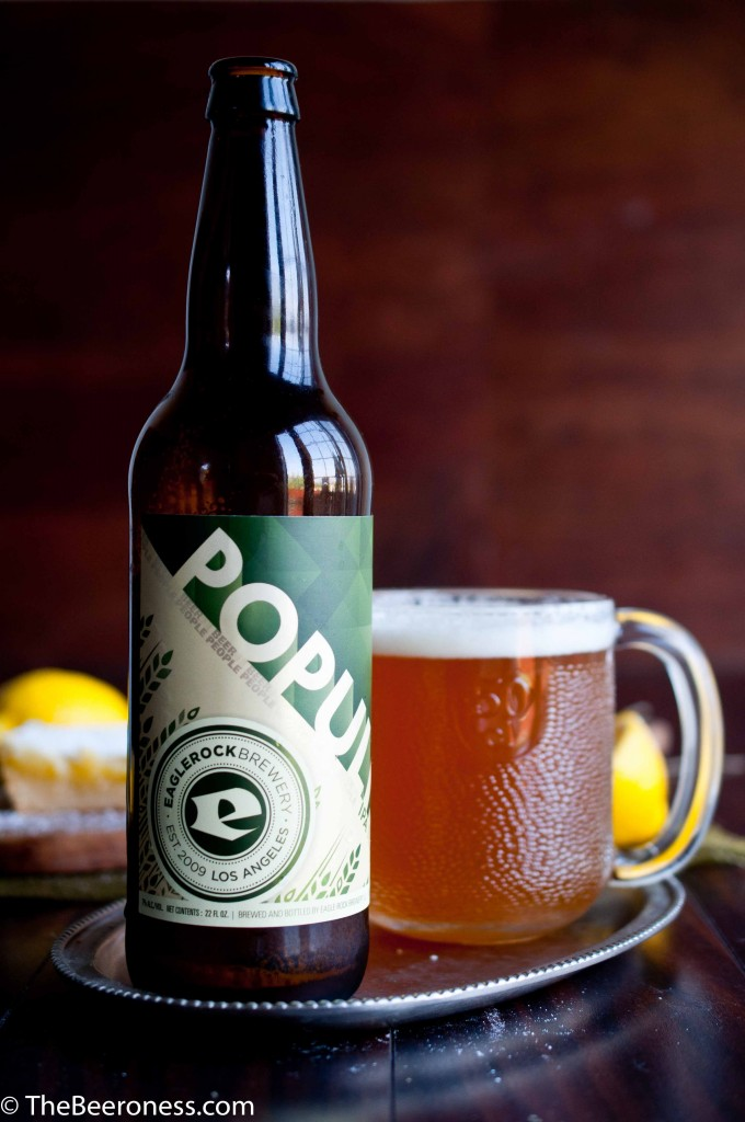 IPA Lemon Bars3 Eagle Rock Populist Bottle_