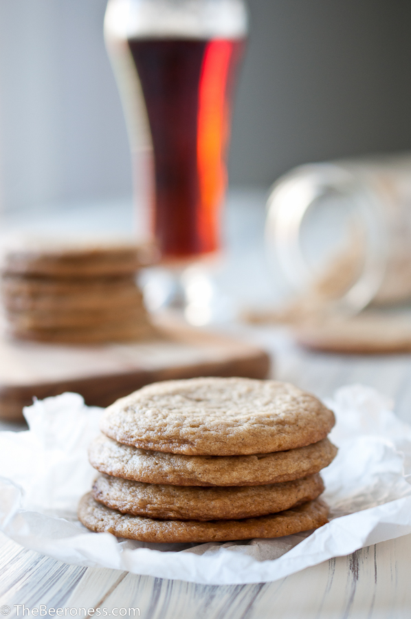 Soft & Chewy Brown Sugar Beer Cookies