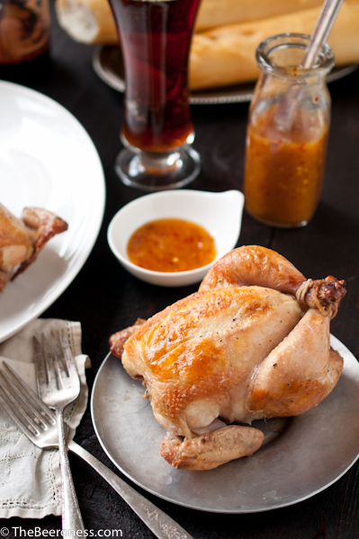 Beer Brined Roasted Cornish Game Hens with Orange Chili Sauce 3