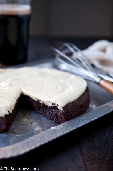 Flourless Chocolate Stout Cake with Orange Mascarpone Frosting 2