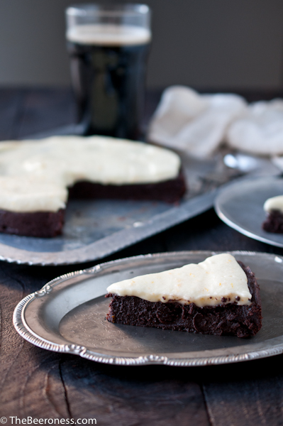 Flourless Chocolate Stout Cake with Orange Mascarpone Frosting 6