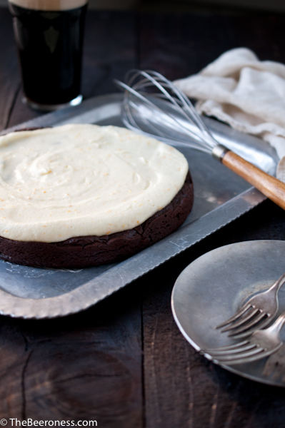 Flourless Chocolate Stout Cake with Orange Mascarpone Frosting_