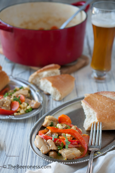 Chicken and Beer Summer Stew