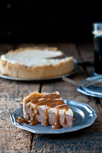 Chocolate Stout and Dulce de Leche Ice Box Pie via @TheBeeroness