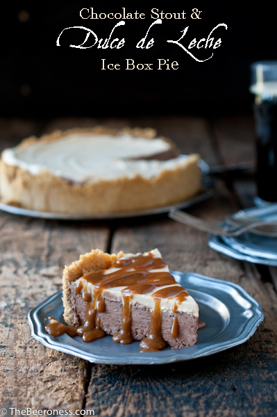 Chocolate Stout and Dulce de Leche Ice Box Pie
