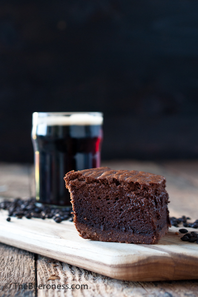 Chocolate Stout Mousse Brownies. Rich and chocolaty with the texture of a fluffy, creamy mousse.