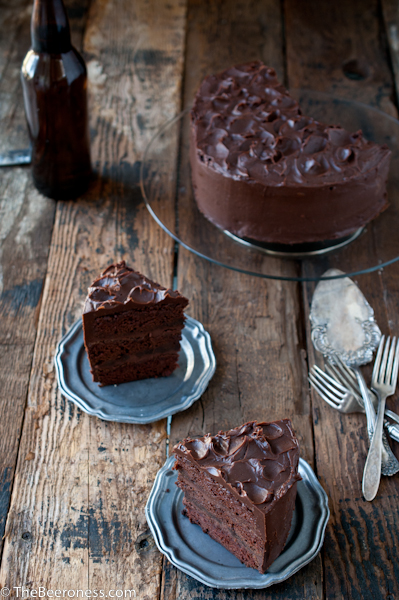 Epic Chocolate Stout Cake with Chocolate Bourbon Sour Cream Frosting ...