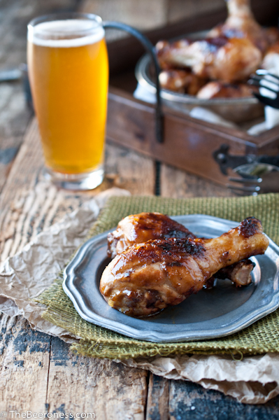 Hoisin Stout Chicken Legs via @TheBeeroness