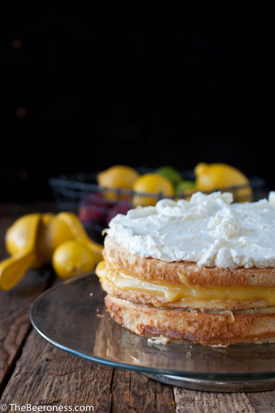 Lemon Beer Dream Cake via @TheBeeroness