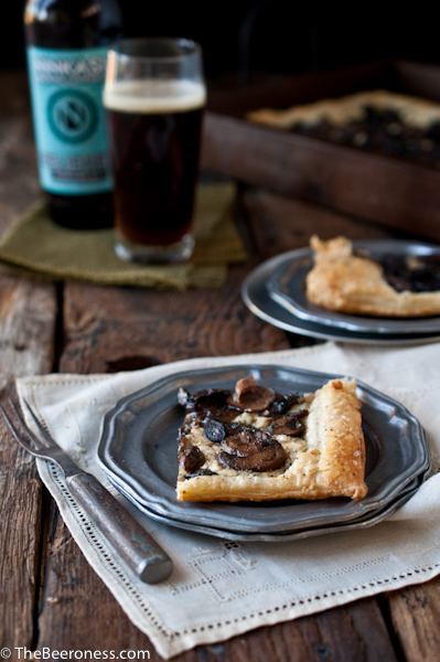 Beer Caramelized Mushrom Tart