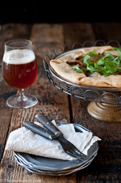 Potato, Porter Caramelized Onions & Beer Goat Cheese Tart3