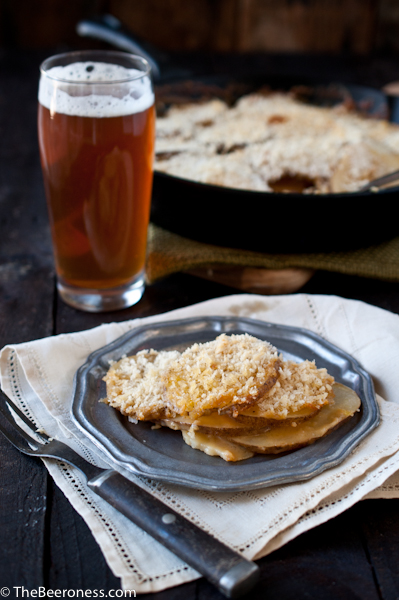 skillet beer cheese potatoes 3
