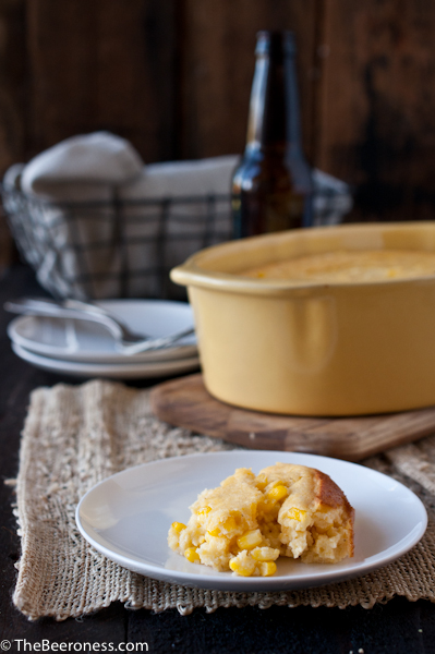 Beer Cheese Corn Spoon Bread