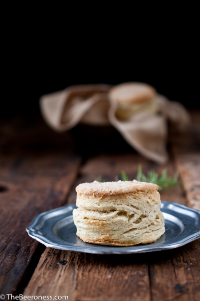 Rosemary Beer Biscuits with Stout Sausage Gravy4