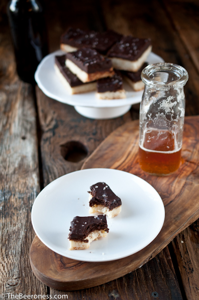 Chocolate Stout Shortbread Cookies
