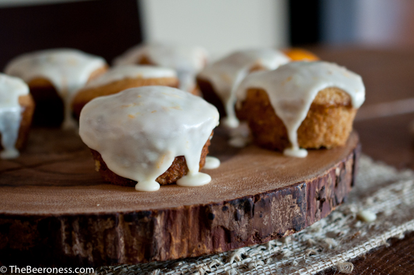 Orange Cherry Beer Muffins