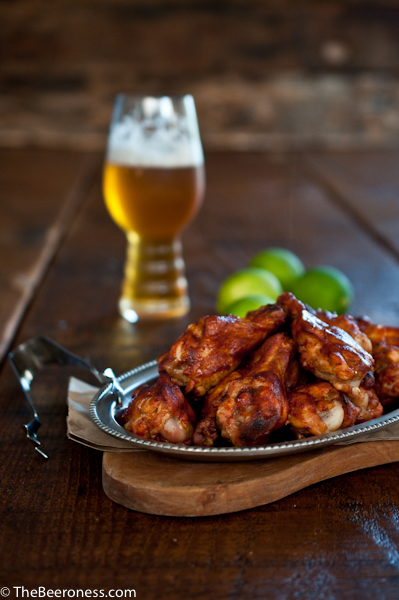 Chicken Wings And Beer Chili lime beer chicken - the beeroness