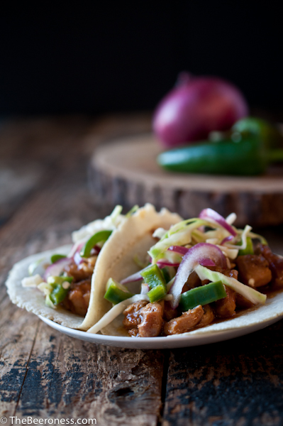 Slow Cooker Beer Chicken Tacos2