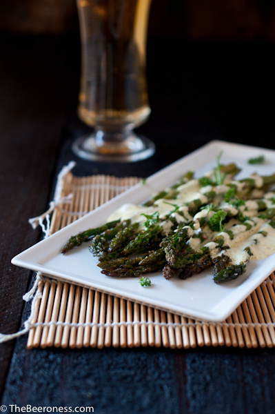 Roasted Asparagus with Beer Bernaise 2