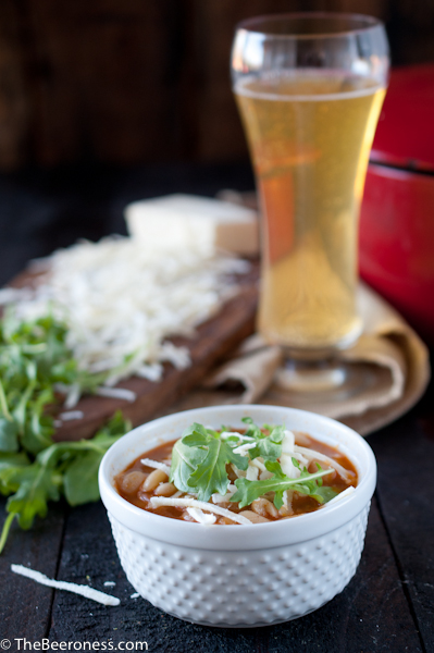White Bean Beer and Ham Soup
