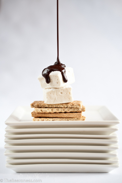 Beer Marshmallows with Chocolate Mint Beer Sauce
