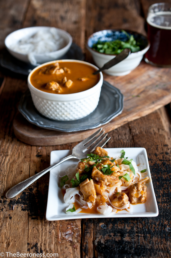 Belgian and Coconut Curry Chicken_