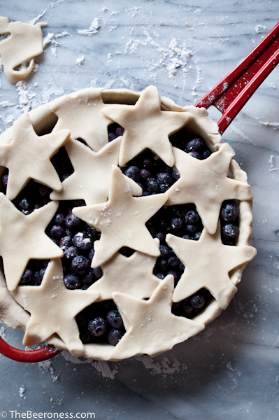 Blueberry Cider Skillet Pie with Lime Basil Whipped Cream5