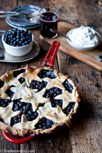 Blueberry Cider Skillet Pie with Lime Basil Whipped Cream8