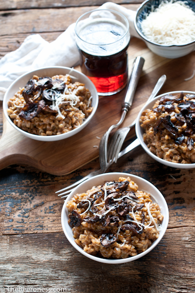 Farro Beer Risotto with Roasted Wild Mushrooms3