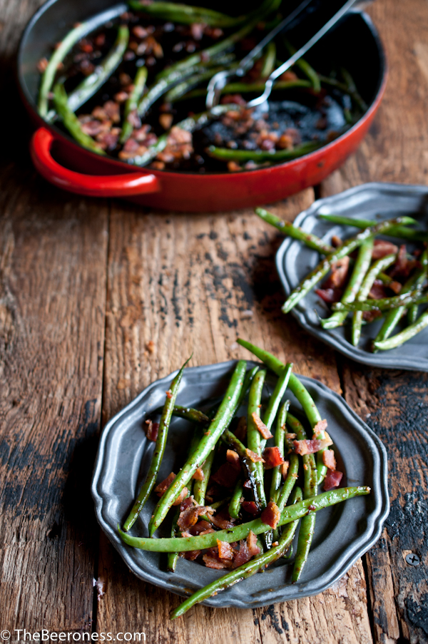 Green Beans with Bacon and Beer Glaze2