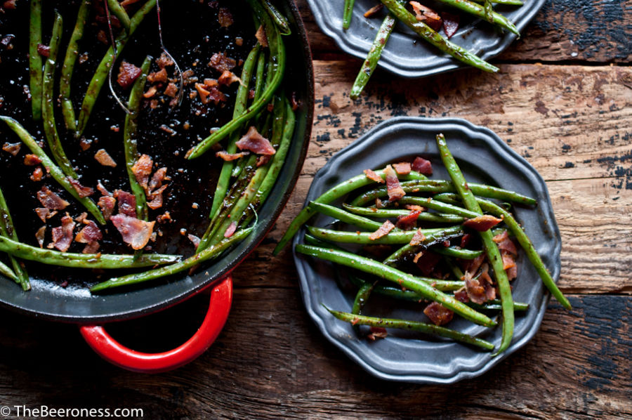 Green Beans with Bacon and Beer Glaze3