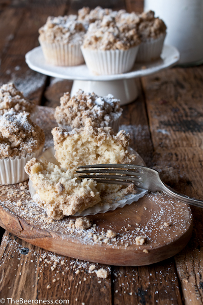 New York Beer Crumb Cake Muffins