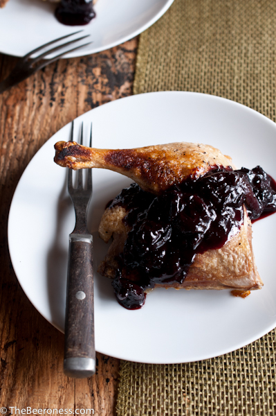 Roasted Duck with Porter Cherry Sauce2