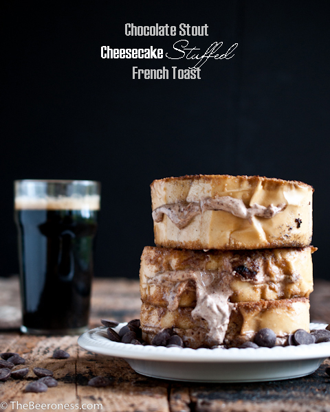 Chocolate Stout Cheesecake Stuffed French Toast P